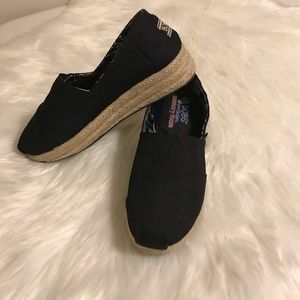 Black bobs by Skechers shoes
